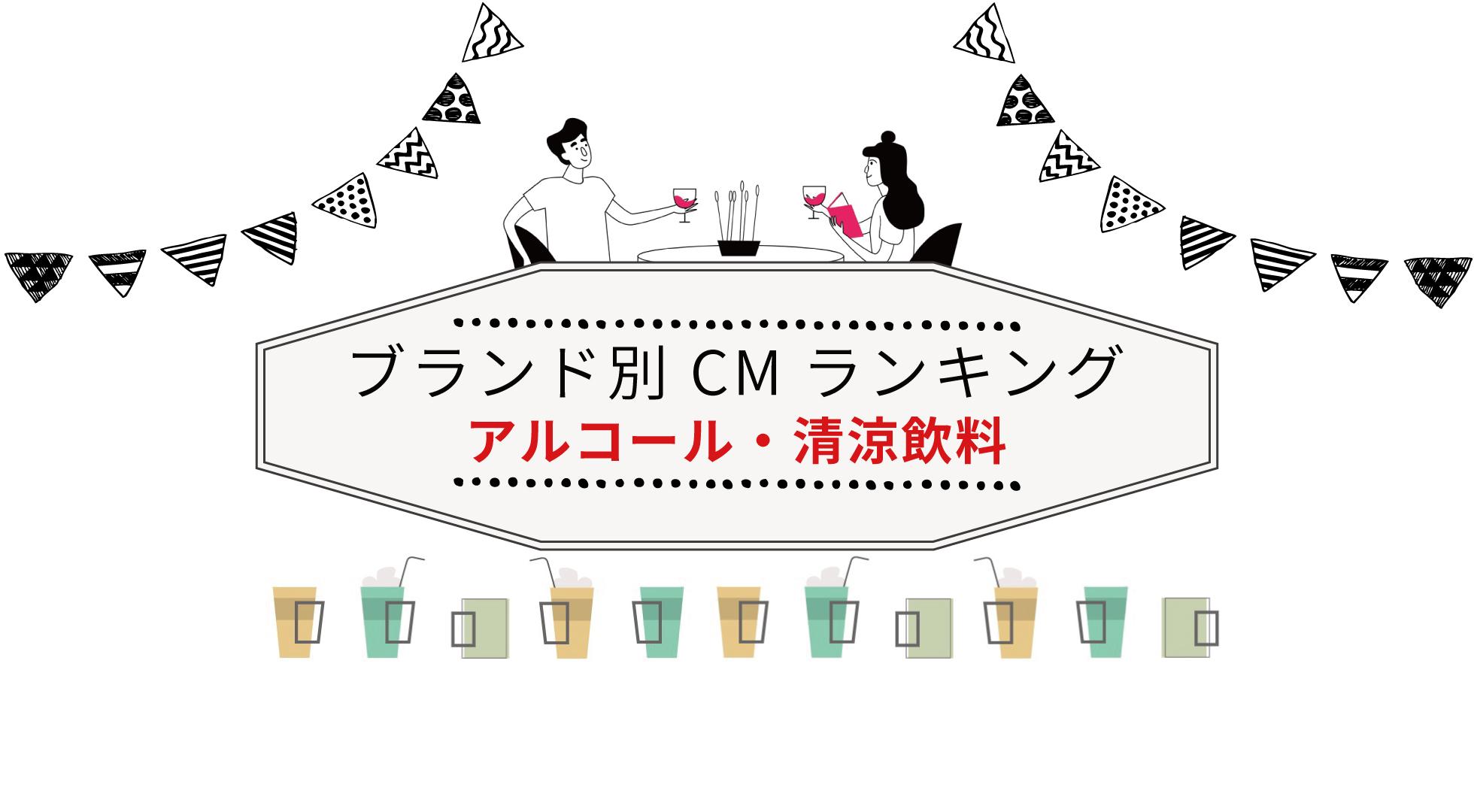 ブランド別 CM視聴質ランキング(アルコール/清涼飲料)
