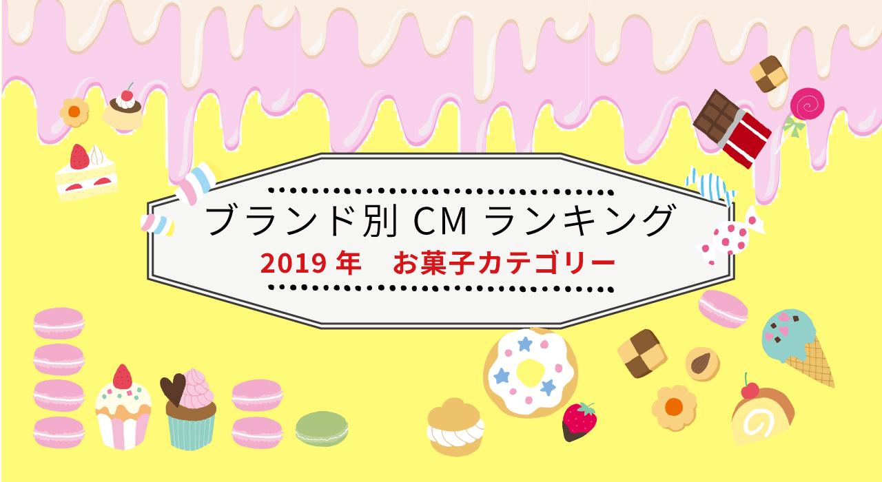 ブランド別 2019年年間CM視聴質ランキング(お菓子)