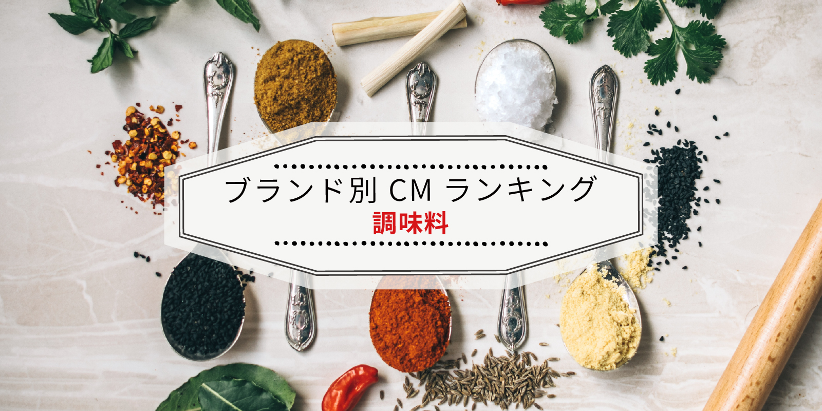 ブランド別 2019年CM視聴質ランキング(調味料)