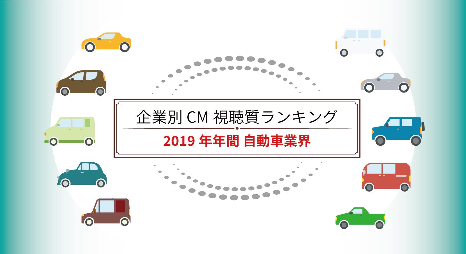 企業別 2019年CM視聴質ランキング(自動車)
