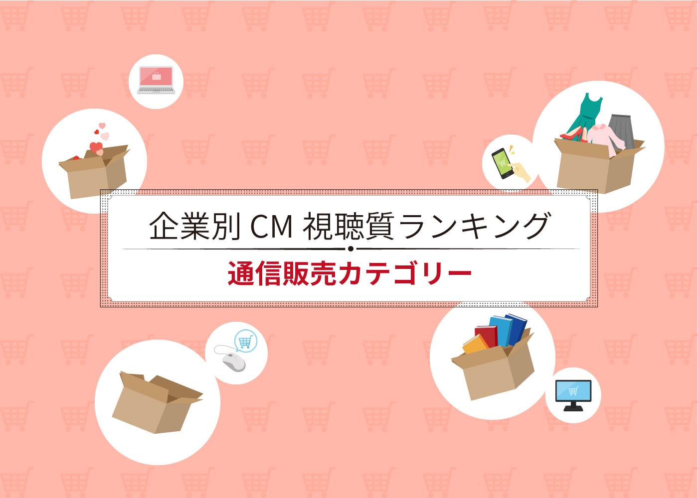 企業別CM視聴質ランキング(通信販売)