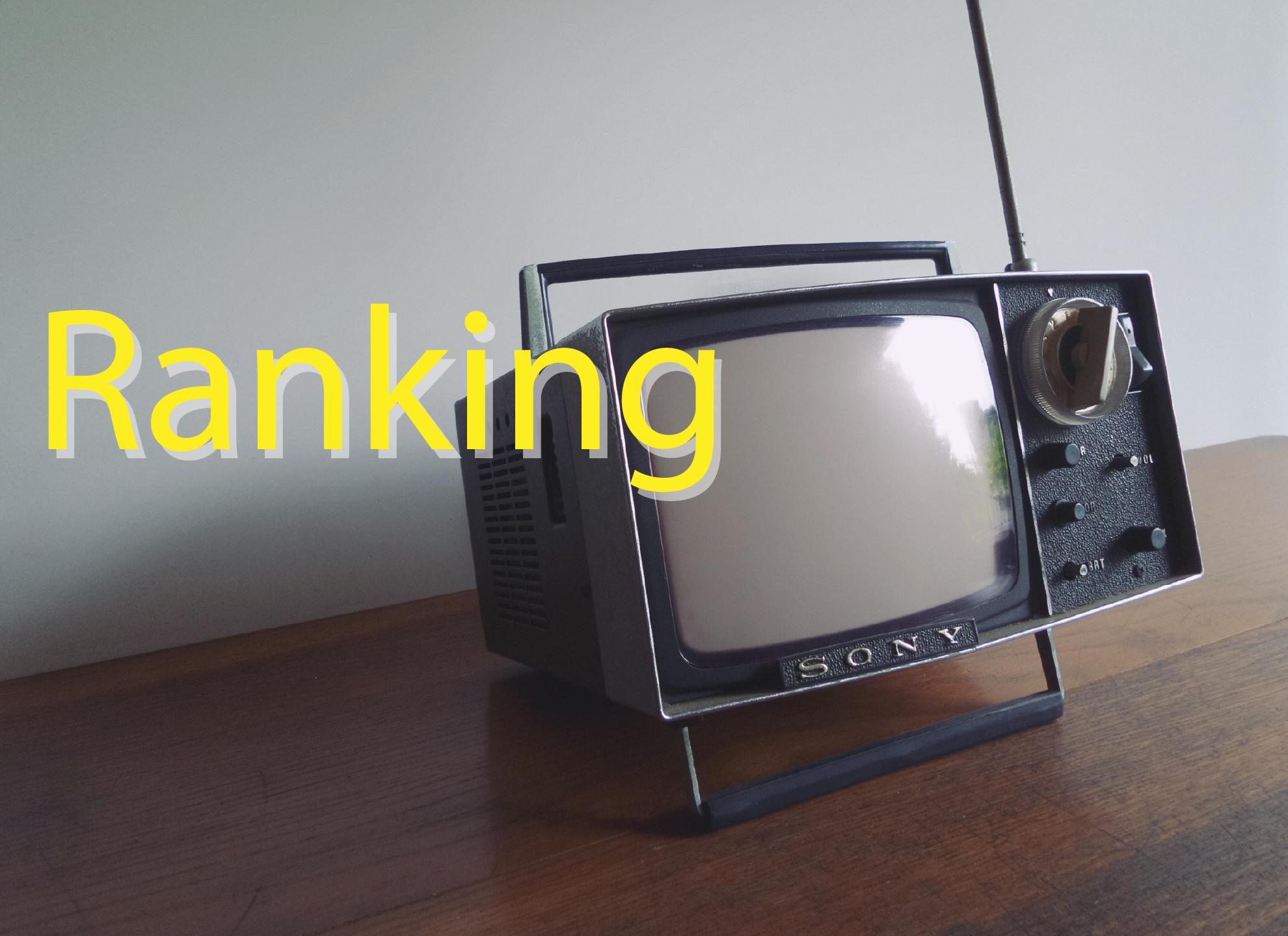 2021年4月 週間テレビ番組ランキング